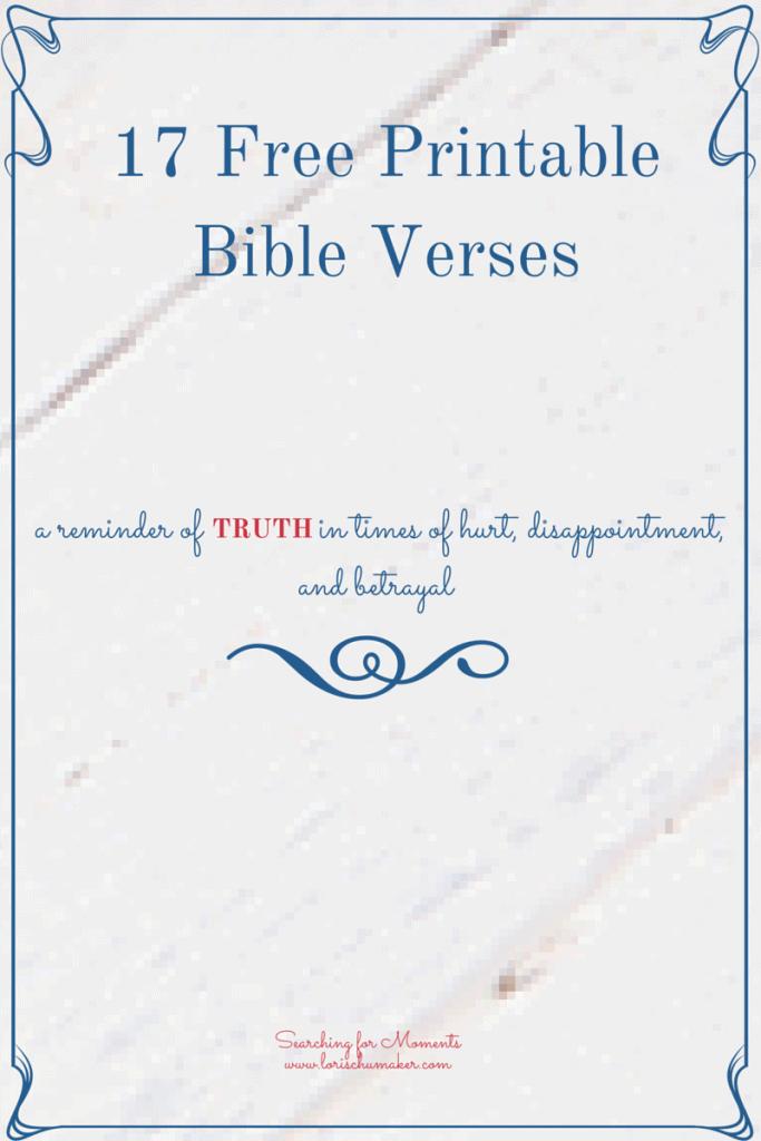 17 Free Printable Scriptures