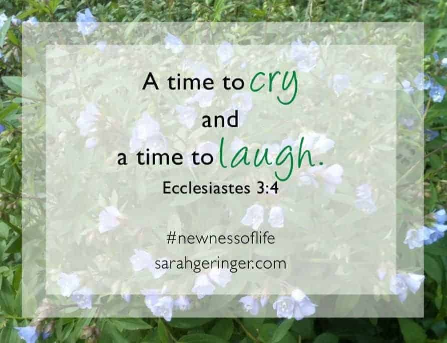 A Time for Crying and a Time to Laugh by Sarah Gerninger