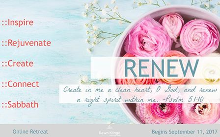 Dawn Klinge Renew Retreat - A 4-Week Personal Retreat