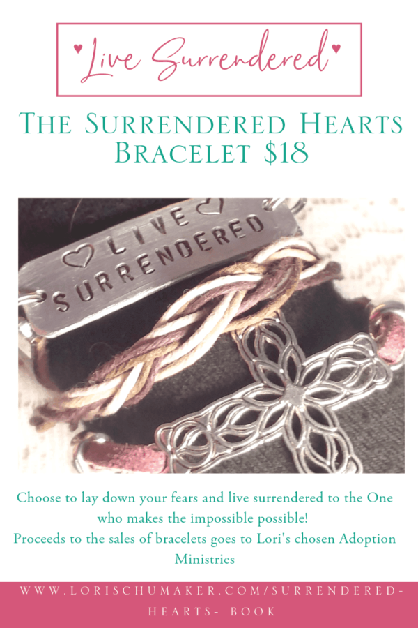 Support adoption and make a statement to Live Surrendered to God's call on your life. #surrenderedheartsbook #godslove #adoption #nationaladoptionmonth #adoptiionstories #bracelet #surrendered #fundraiser #crossbracelet