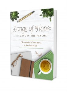 Are you weary? Many of us just want relief from the tired, exhaustion of life. There is always someone who needs us, laundry to fold, and bills to pay. What if we told you God is waiting to fill your weary heart with hope? #hope #devotional #dailydevotional #songsofhope #psalms #wearyheart #christianbooks