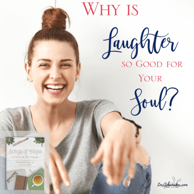 Laughter is good for the soul. Often we think of it as by-product of contentment and joy. Yet, the truth is that it is much more. It ushers in contentment and joy and serves as a mighty weapon against the negativity that traps us and the sorrow that threatens to steal our joy and our hope. #laughter #laughterisgoodforthesoul #hope #contentment #songsofhope #christianbooks #devotionals #dailydevotions